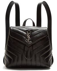 Saint Laurent - Loulou Small Leather Backpack - Lyst