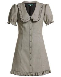 ALEXACHUNG - Puritan-collar Babydoll Dress - Lyst