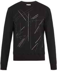 Saint Laurent - Glitter Abstract-print Cotton Sweatshirt - Lyst