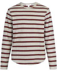 FRAME - Long Sleeved Cotton T Shirt - Lyst