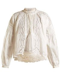 Isabel Marant - Maly Embroidered Ramie Top - Lyst