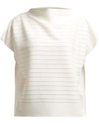 Issey Miyake - Woody Panelled Stretch Jersey Top - Lyst