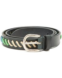 Isabel Marant - Zitty Whipstitched Leather Belt - Lyst