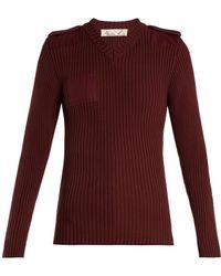 Martine Rose - Ribbed-knit Cotton Sweatshirt - Lyst