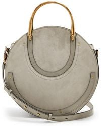 Chloé - Pixie Suede And Leather Cross-body Bag - Lyst