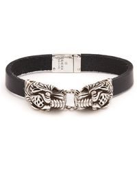 Gucci - Tiger Head Sterling Silver Cuff Bracelet - Lyst