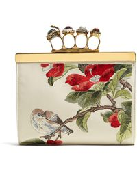 Alexander McQueen - Knuckle Floral Embroidered Clutch - Lyst