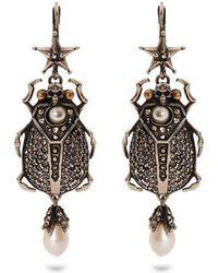 Alexander McQueen - Embellished-beetle Earrings - Lyst