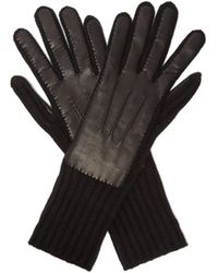 Burberry - Cashmere And Leather Gloves - Lyst
