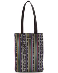 Saint Laurent - Antibe Ikat Canvas Tote Bag - Lyst