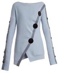ROKSANDA - Temir Cut-out Back Buttoned Jumper - Lyst