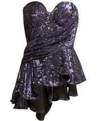 Maria Lucia Hohan - Krista Sequinned Bustier Top - Lyst