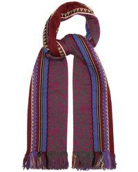 Etro - Intarsia-knit Cashmere-blend Scarf - Lyst