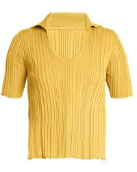 Jacquemus - V-neck Ribbed-knit Cotton Top - Lyst