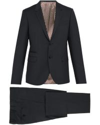Valentino - Slim Fit Single Breasted Wool Blend Suit - Lyst