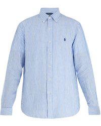 Polo Ralph Lauren - Striped Linen Shirt - Lyst