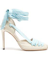Altuzarra - D'orsay Gingham-ribbon Linen Court Shoes - Lyst