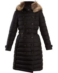 Burberry - Dalmerton Fur-trimmed Quilted Down Coat - Lyst