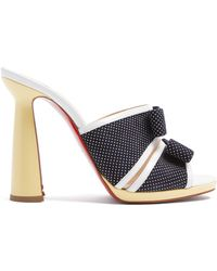 Christian Louboutin - Miss Daisy 120 Polka Dot Print Suede Mules - Lyst
