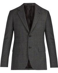 Stella McCartney - Checked Single Breasted Wool Blazer - Lyst