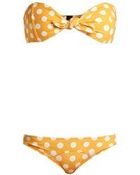 Lisa Marie Fernandez - Poppy Strapless Bandeau Bikini - Lyst