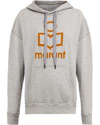 Étoile Isabel Marant - Sweat-shirt en coton mélangé à logo floqué Mansel - Lyst