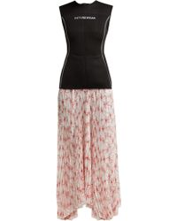 Marine Serre - Spin Flower Print Pleated Skirt Wetsuit Dress - Lyst
