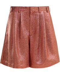 Raey - Tinsel Metallic Silk Blend Shorts - Lyst