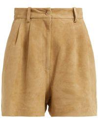 Nili Lotan - Roxana High Waisted Suede Shorts - Lyst