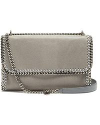 Stella McCartney - Falabella Faux Suede Sliding Shoulder Bag - Lyst