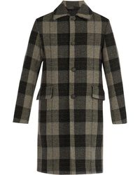 Acne Studios - Checked Wool Coat - Lyst