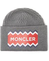 Lyst - Casquette en nylon avec logo off white Moncler pour homme en ... 49312d15524