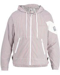 Moncler Gamme Bleu | Hooded Seersucker Jacket | Lyst