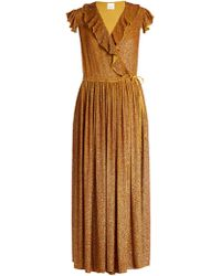 Ashish - Sequin-embellished Silk-georgette Wrap Dress - Lyst