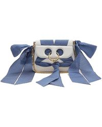 JW Anderson - Pierce Mini Ribbon Trimmed Leather Cross Body Bag - Lyst