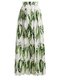 Dolce & Gabbana - Broad Bean-print Cotton-blend Skirt - Lyst