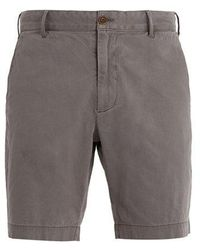 Faherty Brand - Mid-rise Straight-leg Stretch-cotton Shorts - Lyst