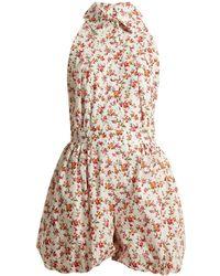 Emilia Wickstead - Miranda Floral-print Playsuit - Lyst