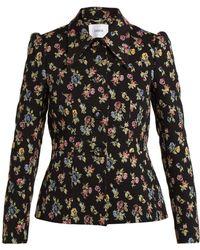 Erdem - Garnet Floral-jacquard Jacket - Lyst
