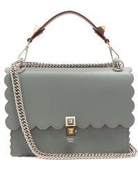 Fendi - Kan I Leather Shoulder Bag - Lyst