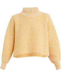 Vika Gazinskaya - Cropped Wool Sweater - Lyst