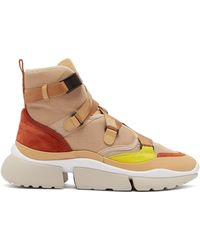 Chloé - Sonnie Raised Sole High Top Trainers - Lyst