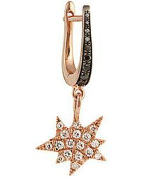 Diane Kordas - Diamond & Rose-gold Explosion Earring - Lyst