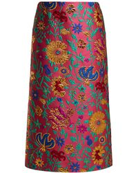 LaDoubleJ - Dragon Flower Floral Brocade Pencil Skirt - Lyst