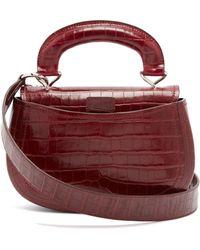 Lemaire - Pumpkin Crocodile Effect Leather Bag - Lyst