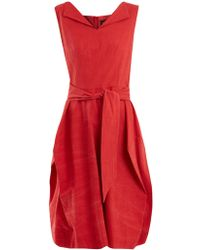 Vivienne Westwood Anglomania - Lotus Tie-waist Cotton Dress - Lyst