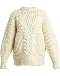 Alexander McQueen - Aran Knit Wool Jumper - Lyst