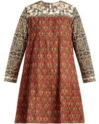 Muzungu Sisters - Lily Bakhtiari Print Panel Cotton Dress - Lyst