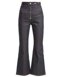 Ellery - Hemisphere Cropped Flare Jeans - Lyst