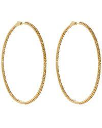 Lynn Ban - 14kt Gold Vermeil And Sapphire Pavé Hoop Earrings - Lyst